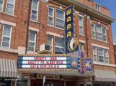 The Wapa Movie Theater at Wapakoneta OH (kyfireenginephoto) Tags: native american indian neon botkins sign sidney ohio light wapa us33 i75 theater store building buckland us25 auglaize lima dixie highway marquee neil armstrong uniopolis oh moon drum