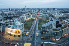 Leipziger Platz (davidcl0nel) Tags: 2017 canon canon5dmarkiii deutschland germany winter berlin leipzigerplatz skyline fernsehturm