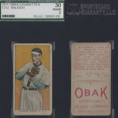 "1911 T212-3 Obak Cigarettes Baseball Card - ""SIR"" JOHN RALEIGH (Pitcher) (Vernon Tigers / Pacific Coast League) (#353) (Treasures from the Past) Tags: t212 tobaccocard tobacco 1909 1910 1911 cigarette cigarettecard americantobaccocompany t212obak obak baseballcard vintage californiabranch obakmouthpiececigarettesbrand mouthpiececigarettes nwl northwestleague northwesternleague pcl pacificcoastleague johnraleigh johnaustinreleigh sirjohn sirjohnraleigh vernontigers pitcher stlouiscardinals cardinals"