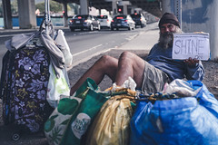 Vincent's Message to Us All (Corey Rothwell) Tags: hawaii oahu homeless homelessness shine whole foods bridge canon 5d