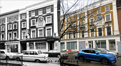 Queens Terrace`1970-2018 (roll the dice) Tags: london westminster nw8 barracks old local history seventies retro bygone streetfurniture architecture sad mad surreal nostalgia comparison changes collection canon tourism tourists urban england uk classic art fashion shops shopping beer ale drinking boozer vanished oldandnew pastandpresent hereandnow trees cars lights angle