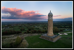 Sherwood Foresters Memorial Tower sunset  smll (GOLDENORFE) Tags: drone phantom4pro crich