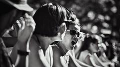 front row (gro57074@bigpond.net.au) Tags: rave newtownfestival newtown 2018 november frontrow crowdphotography crowd event f28 70200mmf28 nikor nikon grit grain monochrome monotone mono people blackwhite bw rage music excitement crowds musicfestival festival concert