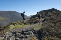 Longside Mountain Bikers (Nick Landells) Tags: lakedistrict lakelandphotowalks guided photo photography fell hill walk walks walking skiddaw littleman ullockpike longside edge ridge walker mountainbike mountainbikes mountain biker biking