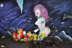 Art and garbage (Otacílio Rodrigues) Tags: graffiti grafite muro wall lixo garbage artederua streetart urban resende brasil oro