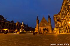 Binnenhof The Hague (PG8DA) Tags: canon 1100d nederland netherlands zuidholland southholland denhaag thehague binnenhof ridderzaal bluehour fontein fountain