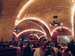 Vaulted Tile Ceiling at the Oyster Bar Restaurant 9293 (Brechtbug) Tags: vaulted tile ceiling oyster bar restaurant below grand central station nyc 01072019 new york city 2019 seafood dinner ground level january winter time cooked boneless pan fried aquatic creature almond slivers dining out table top interior architecture subterranean vault vaults