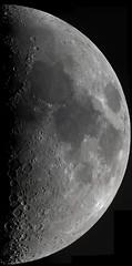 First quarter moon, 2019-03-14 (astrothad) Tags: moon space luna selene astronomy firstquarter waxingphases maria marecrisium marefecunditatis marenectaris maretranquillitatis mareserenitatis
