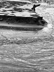 Abstract sand & sea (Jonathon Bennett Photos) Tags: errosion sea sand river tides seascape nature blackandwhite monochrome iphone edge pebbles rocks swirling