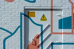 Door with interplay of lines (Jan van der Wolf) Tags: map19285v door deur painting lines lijnenspel interplayoflines playoflines lijnen