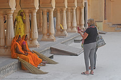 WHEN WEST MEETS EAST (GOPAN G. NAIR [ GOPS Creativ ]) Tags: gopsorg gopangnair gops gopsphotography photography creativ jaipur rajasthan sweepers ladies women east west western asian palace india tour