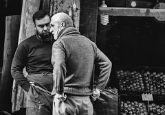 Fruit vendors, Istanbul (sdhaddow) Tags: istanbul turkey urban street people bw monochrome