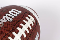 American football ball on white background (wuestenigel) Tags: 2025 superbowl 2022 american bowl match ball football nfl competiton 2026 final 2019 2024 sport 2020 2023 game 2021 brown leather leder noperson keineperson fusball basketball spiel competition wettbewerb exercise übung achievement leistung soccer isolated isoliert pigskin schweinsleder recreation erholung conceptual konzeptionell leisure freizeit fashion mode sneakers turnschuhe fun spas gameplansports spielplansport