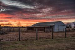 Horse Barn at Sunset (Vincent1825) Tags: 40mm landscape sunset horse barn pentax