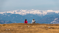 Schöckl 7 (Bikerwolferl) Tags: nature mountain landscape scenics outdoors tree sky mountainpeak bench beautyinnature nopeople woodmaterial natur berg landschaft landschaftspanorama imfreien berggipfel