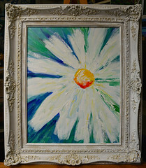 The White Daisy/Framed (BKHagar *Kim*) Tags: bkhagar art artday painting paint acrylic impressionist daisy white flower floral