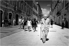 Main Street (Steve Lundqvist) Tags: teramo italy italia abruzzo streetphotography old elderly classy snap shot candid elegant man vecchi vecchio suit fujifilm x100s composition style persone
