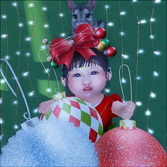 Holiday Portrait (daisypea) Tags: daisy crowley bellamoon venfina family love toddler toddleedoo bad seed bebe body td bb roleplay rp second life childhood sl secondlife tot kid child children art photo photography everyday daughter sister father mother mommy daddy mama dada holiday winter yule christmas