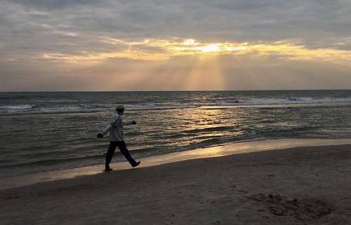 Morning Walk on Hua Hin Beach