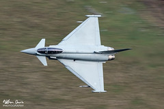 RAF Typhoon FGR.4 ZK311 low level at Tebay (NDSD) Tags: low level typhoon t3 eurofighter cumbria yorkshire pennine pennines flying jet raf lake district plane aviation aircraft dales tebay motorway panning 3 squadron rampage flight