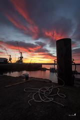3ème bassin... (Patrice Le Roux) Tags: sunsetsunrise finistère bzh brest bretagne port bateau mer