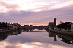 Arno, riflessi e tramonto (ImaginOrlo) Tags: pisa toscana italy italia tuscany arno lungarno fiume river tramonto colore riflessi riflesso sunrise sonny sonnino sonnysonnino nikon nikond300