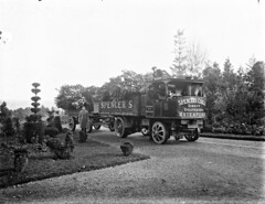 Lorry in Glenville. : commissioned by W. Power & Son, O'Connell Street, Waterford (National Library of Ireland on The Commons) Tags: ahpoole arthurhenripoole poolecollection glassnegative nationallibraryofireland spencer spencers coal topiary lorry glenville wpowerson oconnellstreet waterford cowaterford munster steam steamlorry sentinel waggon sentinelwaggonworks steampoweredlorries seedmerchants powersons powerco dunmoreroad