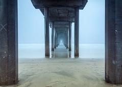 Morning Pier (LXG_Photos) Tags: fog coast pier beach longexposure ocean sandiego lajolla sand sky scripps