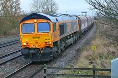 GB Ratty (JohnGreyTurner) Tags: br rail uk railway train transport freight newbarnetby barnetby lincolnshire lincs diesel engine locomotive 66 class66 shed hoppers coal
