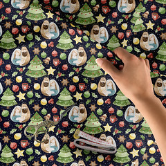 Holidays Around the World Design Challenge - PLS GIVE ME YOUR VOTE AND LIKE (Uta Naumann) Tags: utarthome textiledesign pattern patternobserver patterns home shoponline shop trend surfacepattern surfacedesign interiordesigners designers illustration sewcialists christmas holidays contest botanical nature natural vote spoonflower