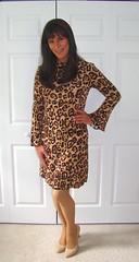 Cheetah Dress (xgirltv1000) Tags: tgirl transgender trans transwoman crossdress mtf maletofemale transisbeautiful transformation makeover girlslikeus genderfluid genderbender dragqueen michellemonroe