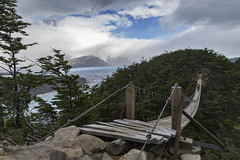 Swinging Bridges from Camp Grey to Glacier Grey Overlook (Ann Kruetzkamp) Tags: pehoelake pudetojetty painegrande campgrey glaciergrey ice glacier lake lago lagogrey icebergs patagonia argentina chile hiking adventure backcountry trekking camp camping landscape mountains landscapephotography family friends goretex park people journalism canon 5d 5dmarkii cold wind weather adventuretravel travel panorama canon5d markii canon5dmarkii february photography trek kruetzkamp 2018 annkruetzkamp ann kruetzkampcom mountain cerro bridge swingingbridges rope
