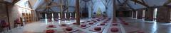 Temple panorama (seikinsou) Tags: amaravati england meditation retreat retreatcentre temple cushion architecture interior mat panorama summer midsummer