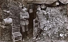 German front line dressing station 'Sanitass Unserstand' in Argonne Forest. German negative ca1914 NARA111-SC-37524-ac (over 14 MILLION views Thanks) Tags: germanarmy ww1 worldwari france 19141918