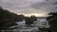 Evening 0030 (All h2o) Tags: ocean sea evening sunset landscape seascape clouds sky rock olympic national park peninsula nature tree forest cape flattery neah bay