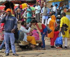 colourful varanasi (gerben more) Tags: colours colors people varanasi benares ghat india
