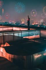 Hello 2k19 (ibtihajtafheem) Tags: newyear newyear2019 2019 2k19 happynewyear happynewyear2019 fireworks firework sparks light city cityscape sky foggy cloud cloudsky night nightscape nightscaping nightshooters