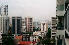 The view of Balestier Neighborhood (The Elephant's Tales Photography) Tags: olympus trip 35 kodak c200 olympustrip35 balestier singapore