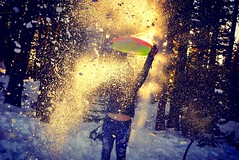 Snowball fight (Starrgalla) Tags: norcal california northerncalifornia northerncali winterwonderland winter fun sled pines pine trees tree volcano mtshasta mountain shasta glittery chilly chill freezing cold icy ice snowflakes snowball snow