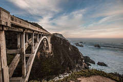 Smile at the obstacles.... (Elisa Ursalas Lupu) Tags: california bridge sunrise ocean sky clouds roadtrip bixby cali bigsur creek canyon aesthetic architechture architecture concrete arch beach waves summer vacation travel visit iconic road mustsee coast vista vistapoint