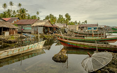 Kampung pulau Balai (feisas) Tags: indonesia water ocean sumatra nature landscape travel adventure traveller alam bagus fullframe sonya7 colorful colors light village fishing boats remote local mess palms banyak island pulau clouds sky houses