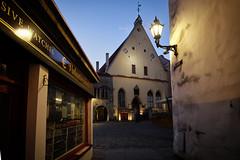 Old town after sunset. Tallinn, Estonia (varfolomeev) Tags: 2018 эстония город улица ночь estonia city street night fujifilmxt10 samyang12mm