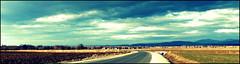 Wiosenny widok. (andrzejskałuba) Tags: poland polska pieszyce dolnyśląsk silesia sudety europe panasoniclumixfz200 view widok sky natura nature natural natureshot natureworld niebieski niebo drzewa trees domy houses road green grass trawa color clouds chmury spring wiosna pole field fields góry mountains 100v10f 1000v40f