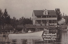 "NW Honor Beulah MI c.1915 RPPC BIG PLATTE LAKE RESORT DAYS Benzie Natives The Worden Family & Guests WORDENS RESORT ON ARBORVITAE West End of Big Plate Lake1 (UpNorth Memories - Donald (Don) Harrison) Tags: vintage antique postcard rppc ""don harrison"" ""upnorth memories"" upnorth memories upnorthmemories michigan history heritage travel tourism restaurants cafes motels hotels ""tourist stops"" ""travel trailer parks"" cottages cabins ""roadside"" ""natural wonders"" attractions usa puremichigan "" ""car ferry"" railroad ferry excursion boats ships bridge logging lumber michpics uscg uslss"