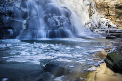 Blue Monday (raffaella.rinaldi) Tags: blue ice cold winter monday water reflection waterfall rocks nature landscape snow