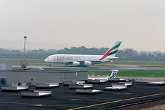 Emirates A380 at Manchester Airport (MAN)