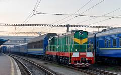 ChME3T-6393 | Kyiv, UA | 14.10.2018 (Alex-ZZZ) Tags: chme3t6393 kievpassenger чмэ3 чмэ3т чмэ3т6393 манёвры киев вагоны утро