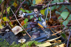 woodland pirate 2 (Mark Rigler -) Tags: captain jack sparrow sailing ship old blue sky dreadlocks pirate upton house woods forest dorset england model scale figure