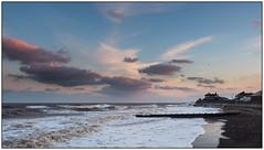 Hornsea_B210014 (HJSP82) Tags: 20181121hornsea rough sea sunset eastcoast coast shore seafront promenade breakers groynes breakwaters clouds