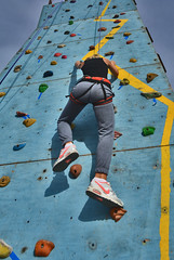 50 (marcomarchetto956) Tags: freeclimbing girl back climber nikon